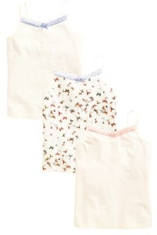Blue/Neutral Camis Three Pack (3-16yrs)