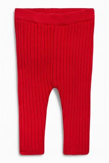 Red Knitted Leggings (0mths-2yrs)