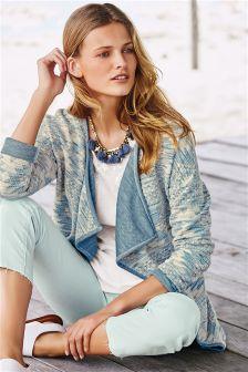 Blue Jacquard Jacket