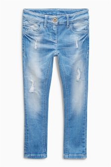 Mid Blue Distressed Jeans (3-16yrs)