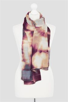 Purple Tie Dye Printed Scarf