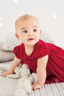 Red Velvet Dress (0mths-2yrs)