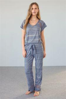 Blue Space Dye Pyjamas