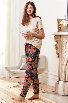 Floral Printed Jersey Pyjamas