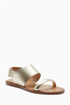 Premium Leather D-Ring Sandals