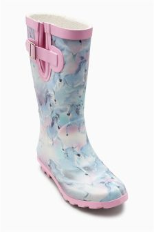 Pink Unicorn Wellington Boots (Older Girls)