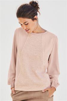 Blush Panelled Sweater