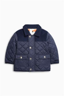 Navy Quilted Jacket (0mths-2yrs)