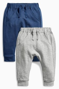 Navy/Grey Joggers Two Pack (0mths-2yrs)