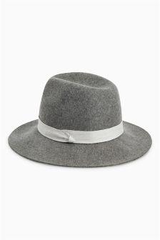 Grey Marl Fedora