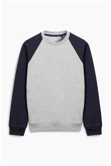 Grey Raglan Sweatshirt