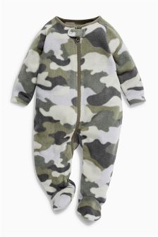 Camouflage Fleece Sleepsuit (0mths-3yrs)