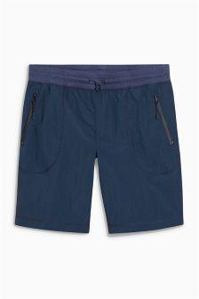 Navy Drawcord Shorts
