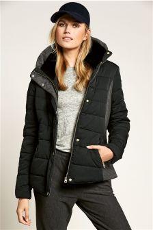 Black Padded Jackets | Fit Jacket
