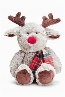 Grey Reindeer Soft Toy (Newborn)