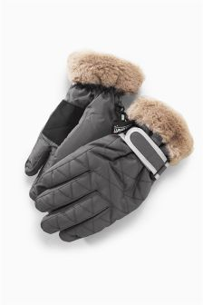 Mink Ski Gloves (Older Girls)