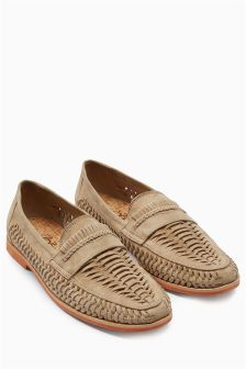 Suede Weave Loafer