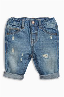 Blue Distressed Jeans (0mths-2yrs)