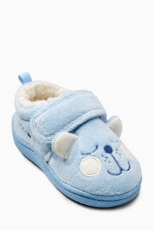 Blue Bear Slippers (Younger Boys)