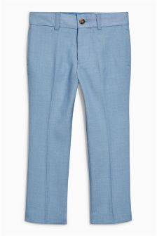 Light Blue Chambray Suit Trousers (12mths-16yrs)
