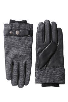 Black Textured Gloves