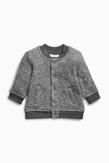 Grey Textured Bomber (0mths-2yrs)