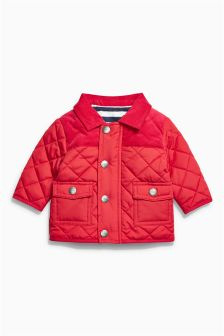 Red Quilted Jacket (0mths-2yrs)