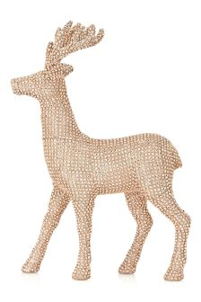 Champagne Gold Effect Diamanté Stag