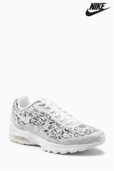 Nike White/Black Printed Air Max Invigor