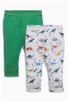 Multi Dinosaur Joggers Two Pack (0mths-2yrs)
