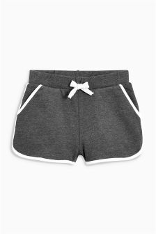 Charcoal Sport Trim Shorts (3-16yrs)