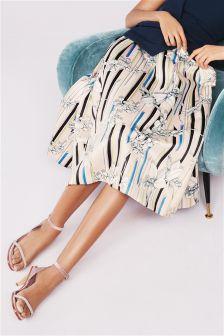 Blush Floral Full Skirt