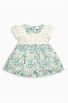 Green Collared Dress (0mths-2yrs)
