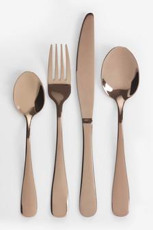 16 Piece Copper Effect Cutlery Set