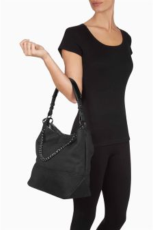 Black Chain Hobo Bag