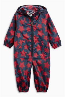 Navy/Red Star Puddlesuit (3mths-6yrs)