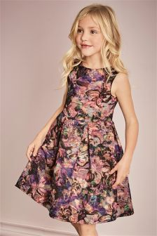 Multi Metallic Jacquard Prom Dress (3-14yrs)