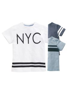 Blue/White Slogan Tees Three Pack (2-16yrs)