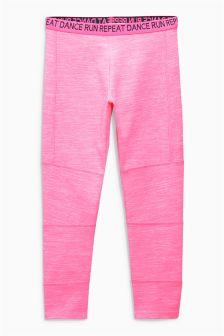 Fluro Pink Sporty Leggings (3-16yrs)