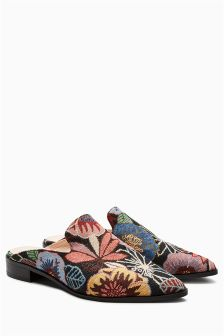 Floral Tapestry Mules