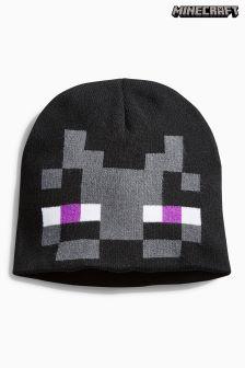 Black Minecraft Beanie (Older Boys)