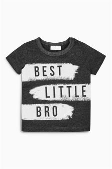 Grey Little Brother T-Shirt (0mths-2yrs)