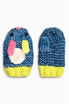 Blue Bunny Mittens (Younger Girls)