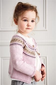 Purple Fairisle Pattern Cardigan (3mths-6yrs)