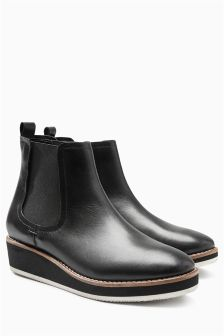 Black Sporty Chelsea Boots