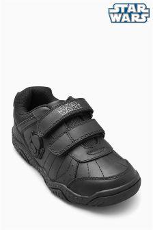 Black Star Wars™ Double Strap Shoes (Older Boys)