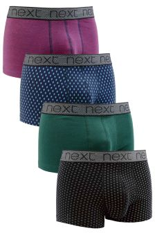 Multi Colour Mix Print Hipsters Four Pack