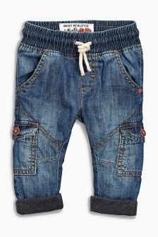 Mid Blue Pull-On Jeans (3mths-6yrs)