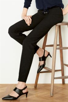 Black Workwear Skinny Trouser