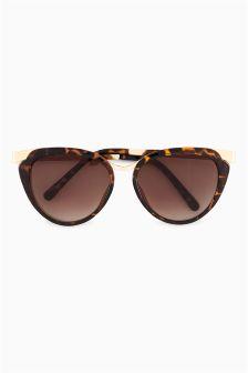Tortoiseshell Effect Cat Eye Sunglasses